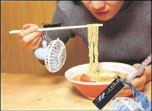 Noodle Soup - The Japanese have it. Ideas for eating hot noodles soup.