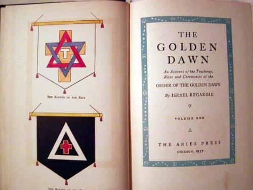 The Banners of the East and West, and the title pa - This picture is from an EBay auction awhile back. The seller was selling an early edition of the Golden Dawn books that were published by Regardie.