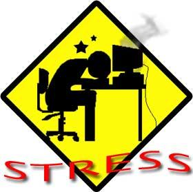 stress - the guy in the picture is so stress working in the office, he needs something to relieve the stress he is feeling.
