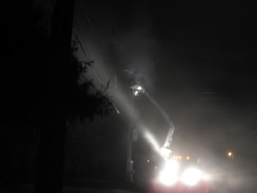 Power Company - The power company putting the fire out