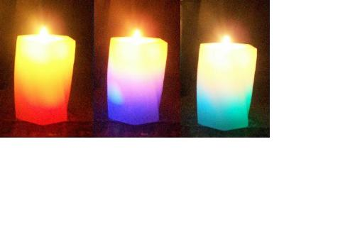 Color changing Candle - This candle changes colors when Its lit.