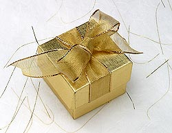 Gold Gift Box - Gifts can give us happiness but real happiness are coming from unseen gifts.