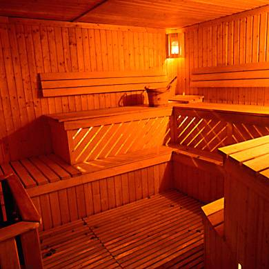sauna room - the hotter the better, it means more fat burnt, LOL