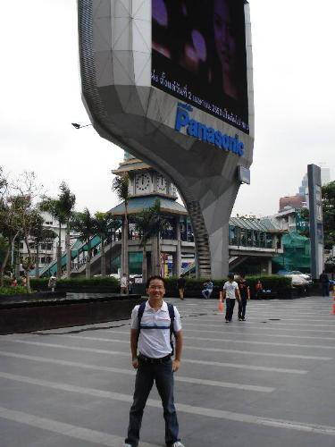 In front of Siam Square - Take a couple of walk from Indra Regent Hotel in Pratunam. You can find Platinum Fashion Mall, Siam Square (malls), MBK, etc. Shopping time...
