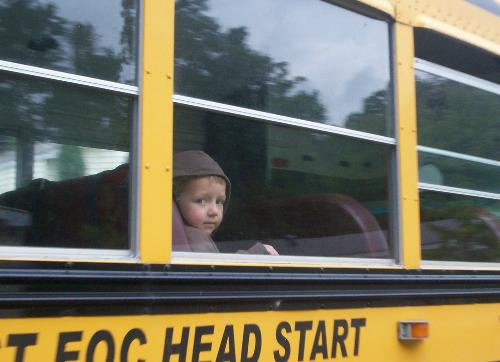 My Baby - My son {3} off to his first day of Head Start!