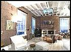interior brick wall - This is a picture of an interior room of someone's home.