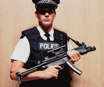 Police - A picture of an armed policeman