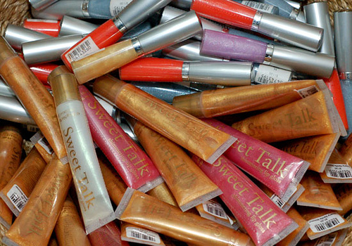 Lip gloss - A big pile of lip gloss