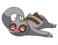 slakoth - a picture of a sloth slacking off.