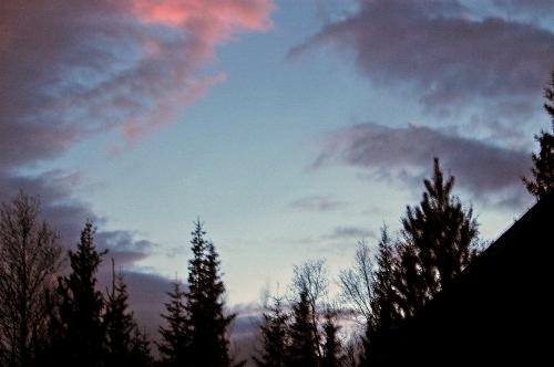The sky in the evning 10/01/2007 - Some minuts the sky was like this.