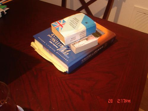 books - books on the table