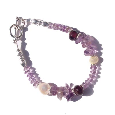 Amethyst Bracelet - This is an amethys bracelet that retails for $55.95. It is similar to the jewellery that I am making, although not exactly the same.