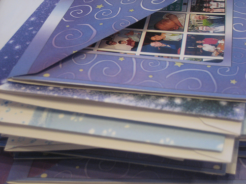 Cards - stack of holiday cards