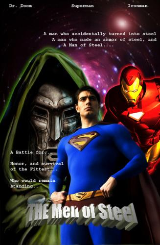 Superman, Iron Man, Dr. Doom - Superman vs. Iron Man vs. Dr. Doom... lol...