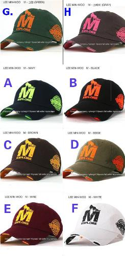 Wolf-M Cap Design #1 - There were several design from 1st batch of Wolf-M cap. The designer was Shinhwa member - Min Woo.