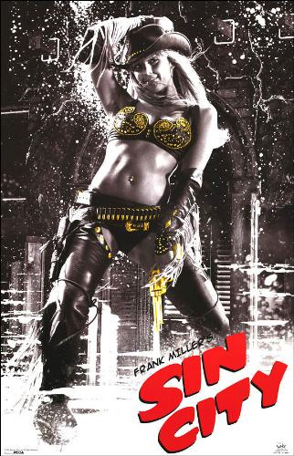 Nancy from Sin city - this is aposter of the film Sin city.it shows nancy a bar dancer played by the gorgeus jessica alba