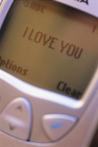 text messaging on a cell phone - text messaging
