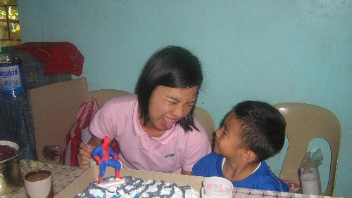 Me and my nephew - playing with my nephew on his birthday