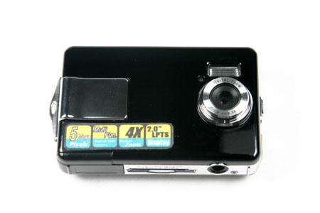 Aiptek Slimcam 302 -  * 3-in-1 function:  - Digital still camera  - Digital camcorder  - PC Camera / Webcam  * Up to 5 mega-pixels still picture  * 4x digital zoom  * 2.0 inches high quality LTPS LCD display  * 1.5 meters to infinity focus range  * SD/MMC up to 1 Gigabytes  * File format: jpeg, mpeg