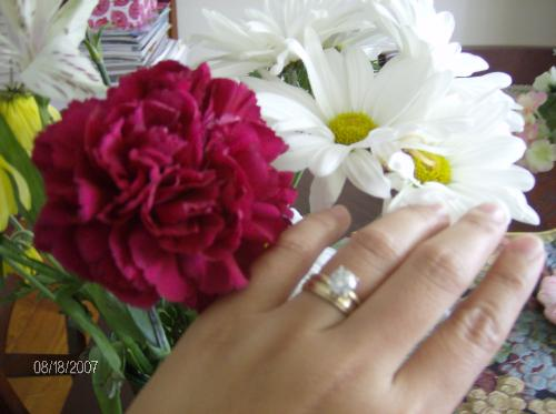 best gift - this is the picture of my engagement, wedding and anniversary ring from my husband.