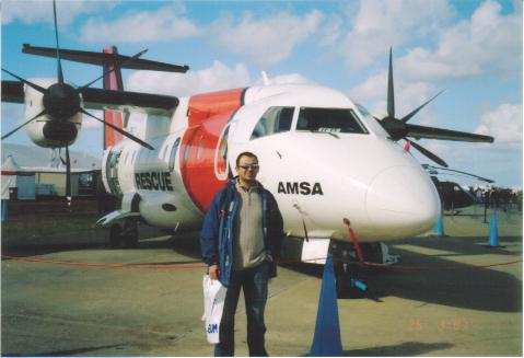 Plane - This is a photo of a plane (and husband)