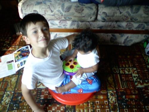 Sit n Spin - My kids on a sit n spin