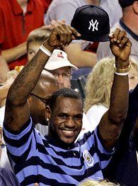 Lebron James - Lebron takes off his Yankees cap! YEAAAAAA boooiiii! lol
