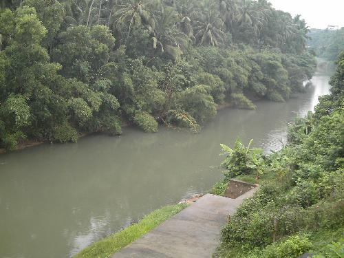 A river - This is a river in Kerala (South India). I love to swim in this against the water current which is a good form of exercise.