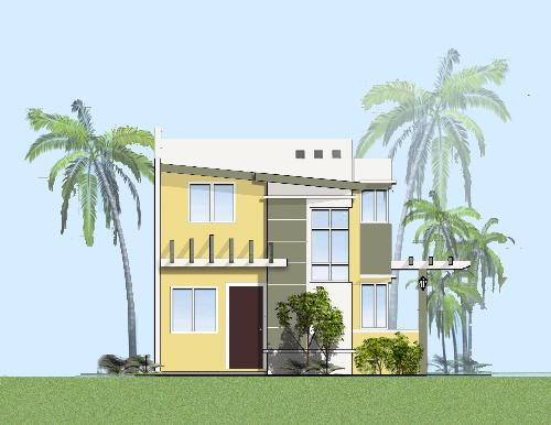 need opinion? mediterrenean look - here is one of our design. we are building 3 designs for a single subdivision here in the philippines. I just would like to know your opinion whether this design would fit a modern mediterranean village. Any comment will be appreciated. Color, ove all look, theme, accents..thnx