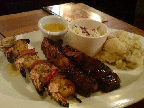Ribs Combo Dinner - this dinner set includes Ribs and Grilled Shrimps~