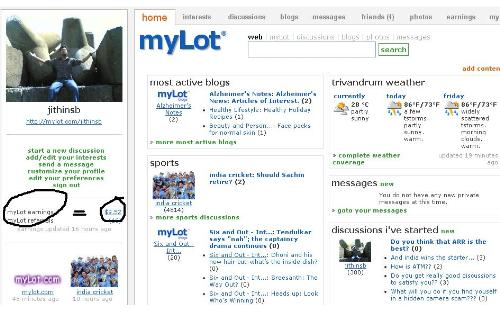 MYlot discussions - I got some good discussions