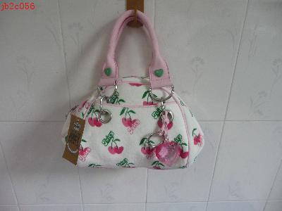 Juicy handbag - Small juicy bag. white with cherry print