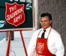 Bell ringer - a salvation army bell ringer.