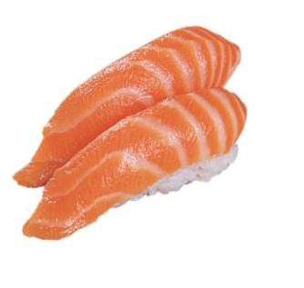 salmon sushi photo - salmon sushi photo with washabi and sauce will taste very well