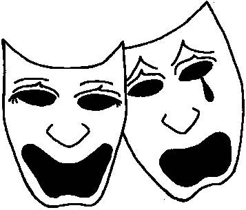 Drama Masks - Posted to my High School Drama discussion.