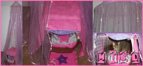 My Cat's Handmade Bed Set - A bedset I made for my cat.