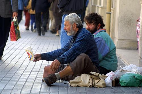 beggars - beggars, begging for a living