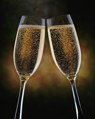 New Years Toast - This is an image of two wine glasses to celebrate new years.