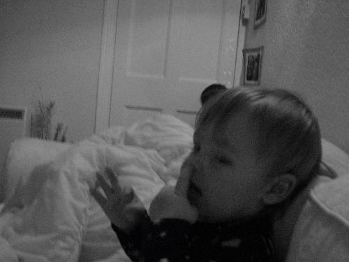 george - picking his nose