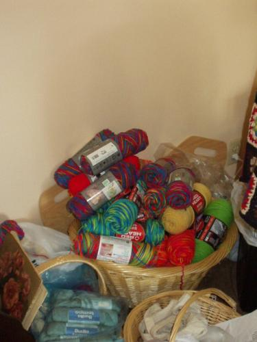 Lots of yarn! - I got lots of yarn in child-friendly colors, enough for at least three months.