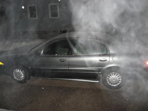 Steamy cold breath - Taken just recently at night prior to a mild snowstorm