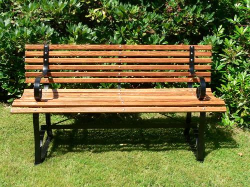 Park Bench - A park bench fairly new