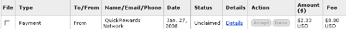 Proof Of Quickrewards Payment - Just got paid today and you get paid no matter how much is made. I'm so happy!