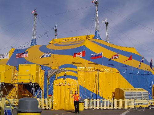 Me & Big Top - Here's a picture of me in front of the big top when I worked on the show Varekai, while it was in Orange County, California, USA, 2004.