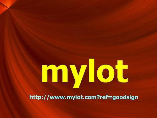 The MyLot Slogan And Link... - Just a pic of the MyLot slogan and link...
