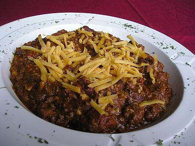 bowl of chili - A bowl of chili for a cold winter night is sure to be welcome at your dinner table.