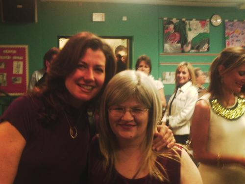 Amy Grant and my wife - Grammy winner Amy Grant was at my old grade school!