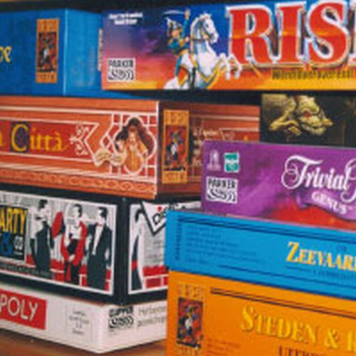 Board Games - A stack of diffrent board games...