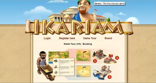 Ikariam - A snapshot I took from the Ikariam game tour