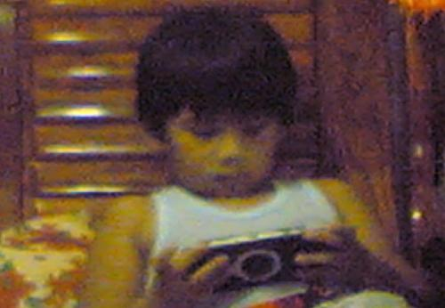 My son - My son playing with Sony PSP